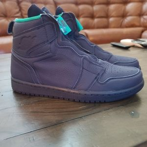 "NIKE AIR JORDAN 1 HIGH  ""Hornets"" Leather Zip up"